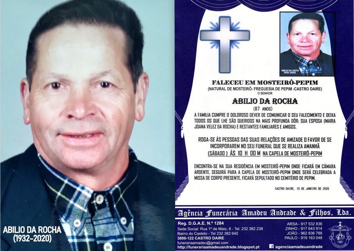 FOTO RIP DE ABILIO DA ROCHA-87 ANOS (MOSTEIRO-PEPI