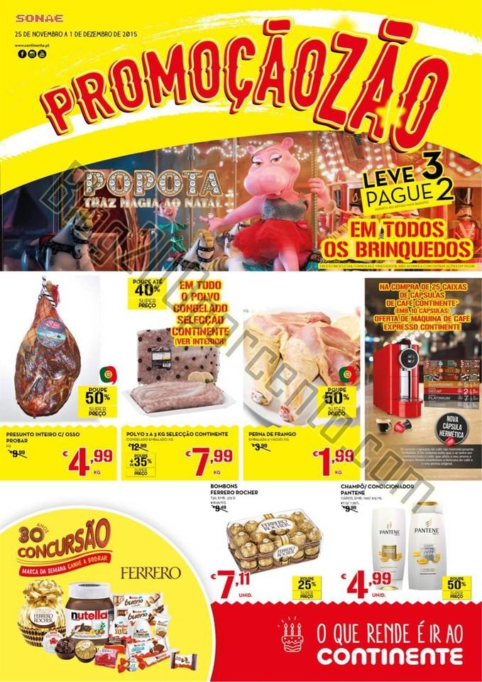 Antevisão Folheto CONTINENTE Madeira de 25 novemb