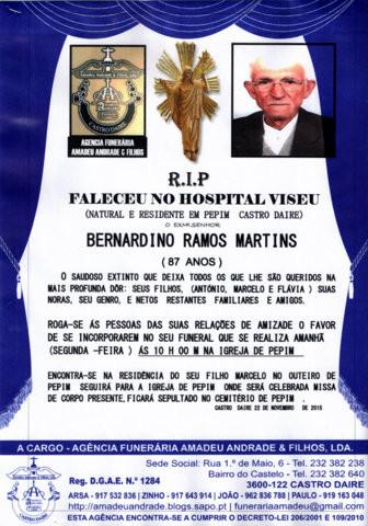 RIP- DE BERNARDINO RAMOS MARTINS-87 ANOS (PEPIM).j