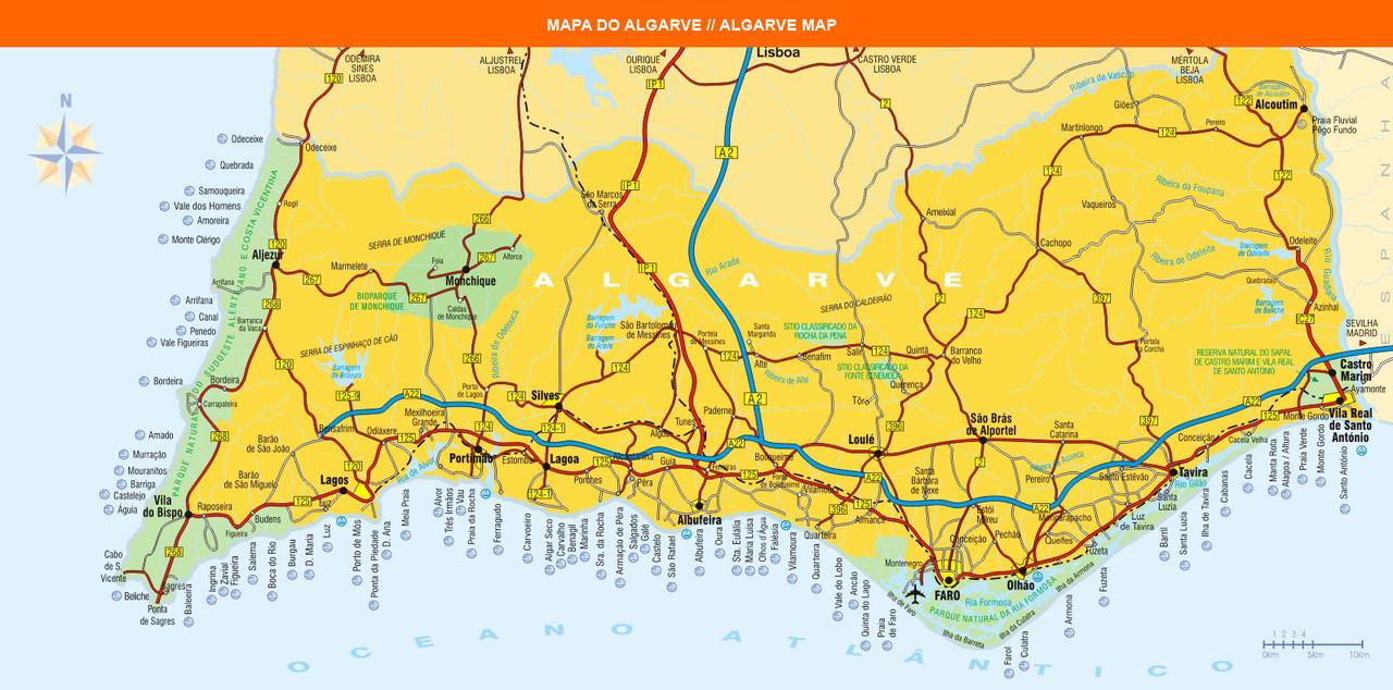 Mapa Algarve