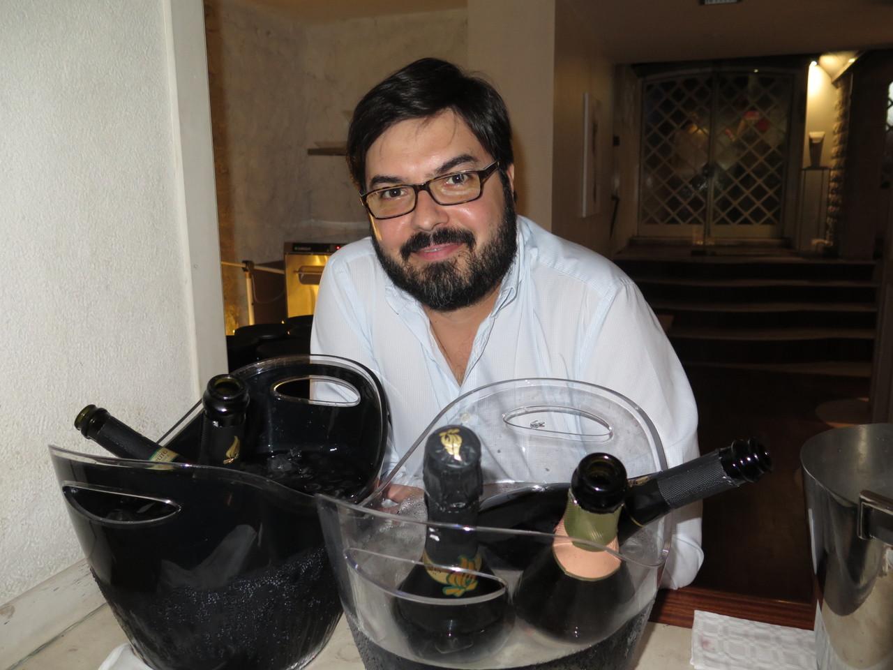 Luís Gradíssimo no restaurante TRIO