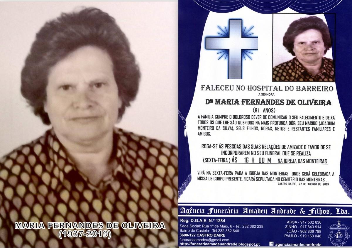 FOTO RIP DE MARIA FERNANDES DE OLIVEIRA -81 ANOS M