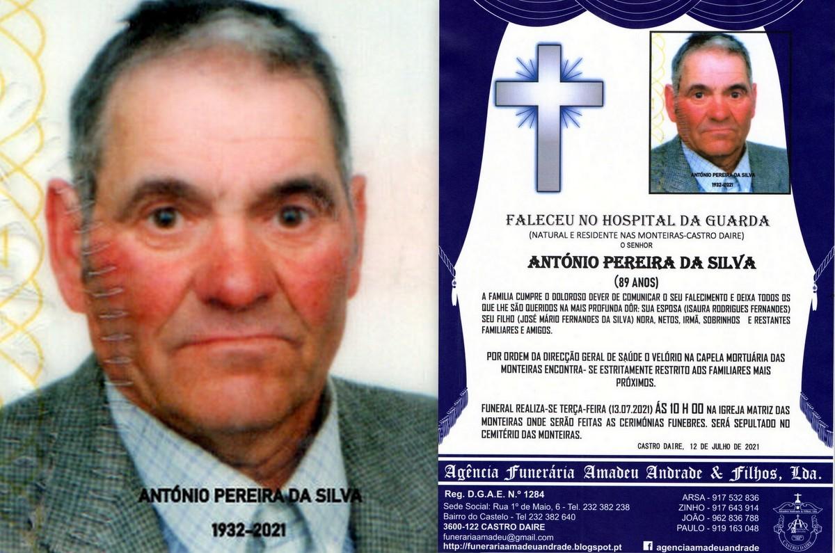 FOTO RIP DE ANTÓNIO PEREIRA DA SILVA -89 ANOS (MO