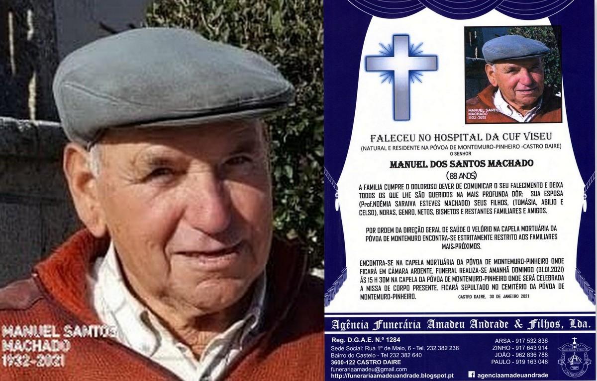 FOTO RIP MANUEL DOS SANTOS MACHADO- 88 ANOS (PÓVO