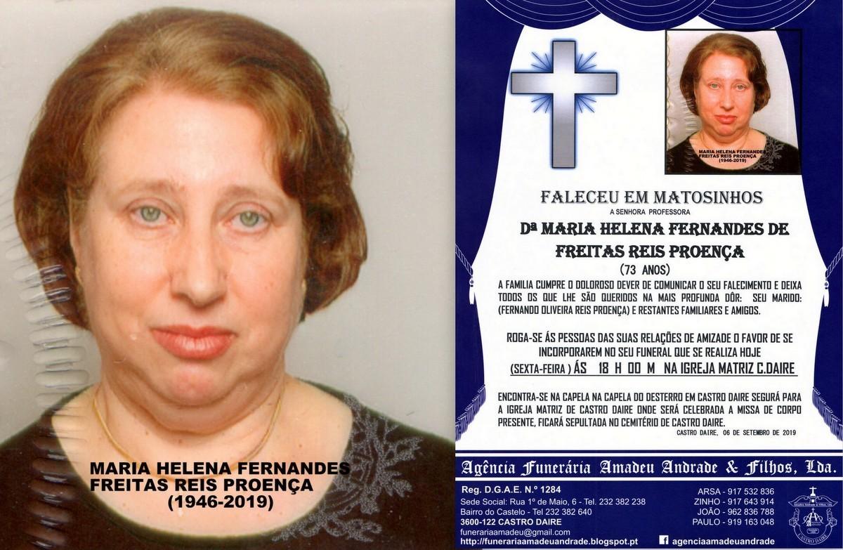 FOTO RIP- DE MARIA HELENA FERNANDES DE FREITAS REI