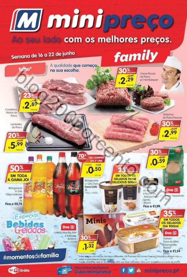 Novo Folheto MINIPREÇO Family de 16 a 22 junho p1