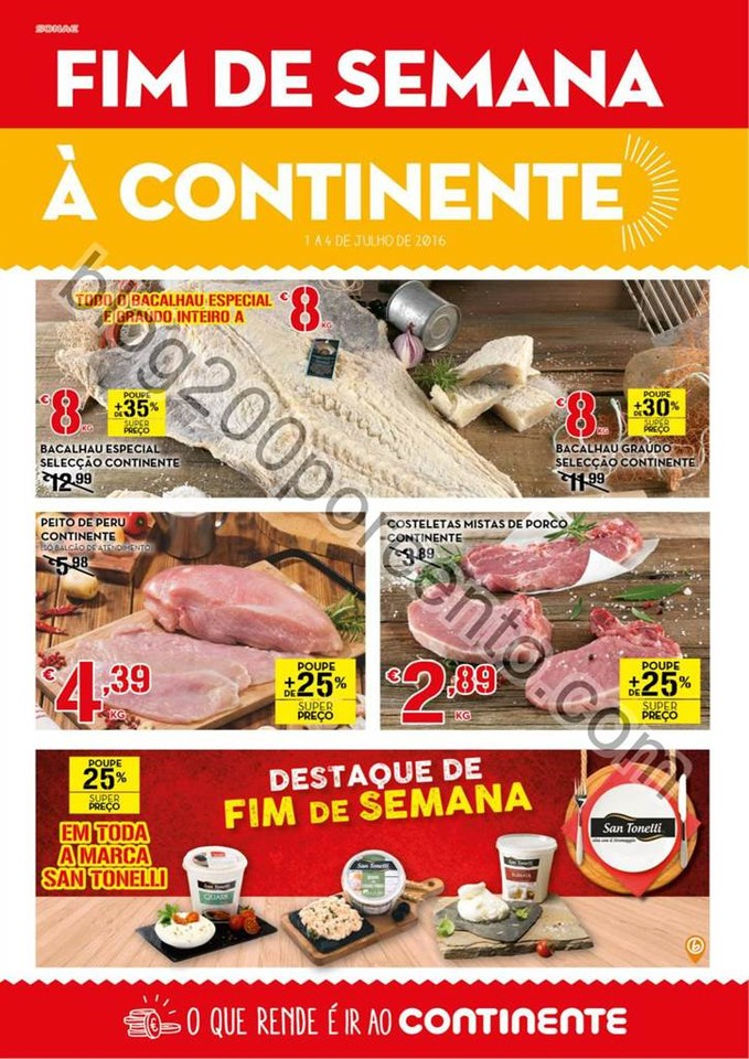 Antevisão Folheto CONTINENTE Fim de semana de 1 a