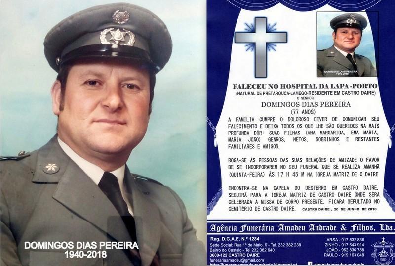 FOTO RIP-DE DOMINGOS DIAS PEREIRA -77 ANOS (CASTRO