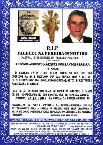 RIP2- ANTÓNIO AUGUSTO MARQUES DOS SANTOS PEREIRA-