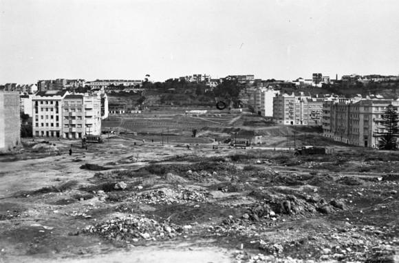 Terraplenagem da Alameda Dom Afonso Henriques, Lisboa (e. Portugal, 1938)