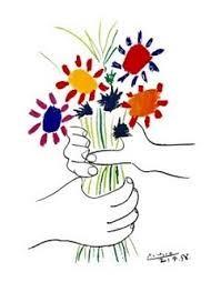 Resultado de imagem para flores nas maos picasso