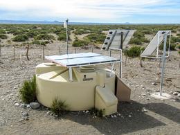Protótipo de uma estação de AugerPrime na pampa