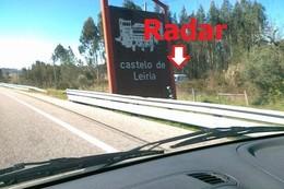 Radar norte sul na A1 antes da saida de leiria-cro