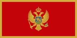 37 Bandeira do Montenegro