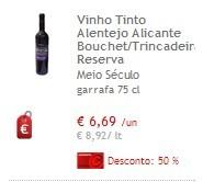 Vinhos 50% Continente
