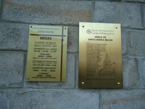 placas informativas, igreja matriz