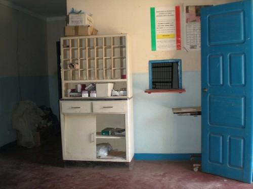 Este armário foi colocado desde 1998 na inauguração do centro