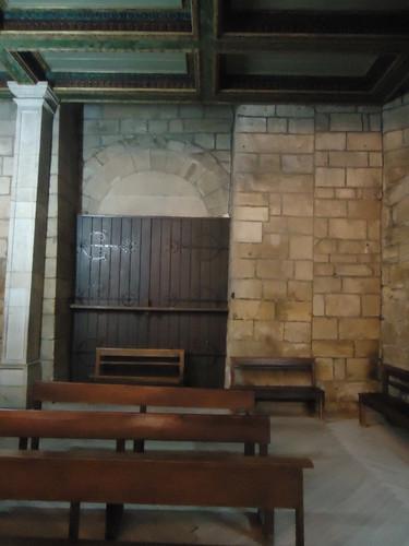 Parte interior do pórtico