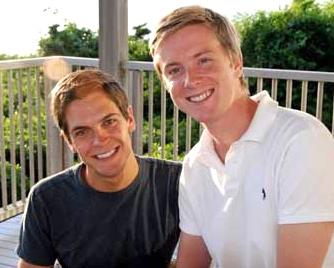 Sean Eldridge e Chris Hughes, co-fundador do Facebook