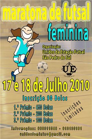 Cartaz Maratona Futsal em São Pedro do Sul