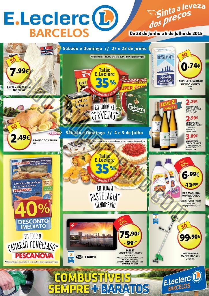 Novo Folheto E-LECLERC Barcelos de 23 junho a 6 ju