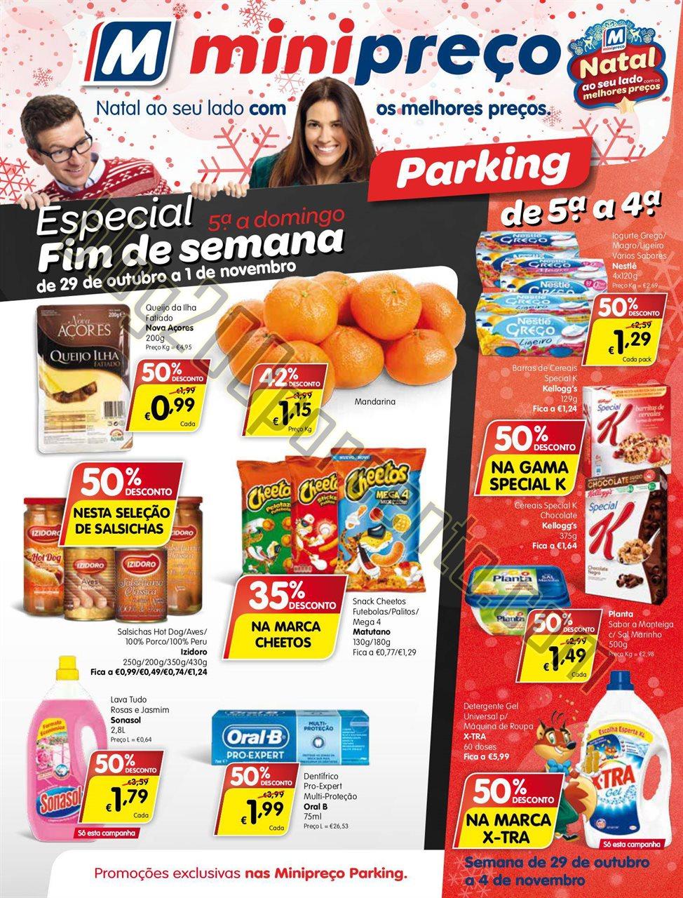 Antevisão Folheto MINIPREÇO Parking de 29 outubr