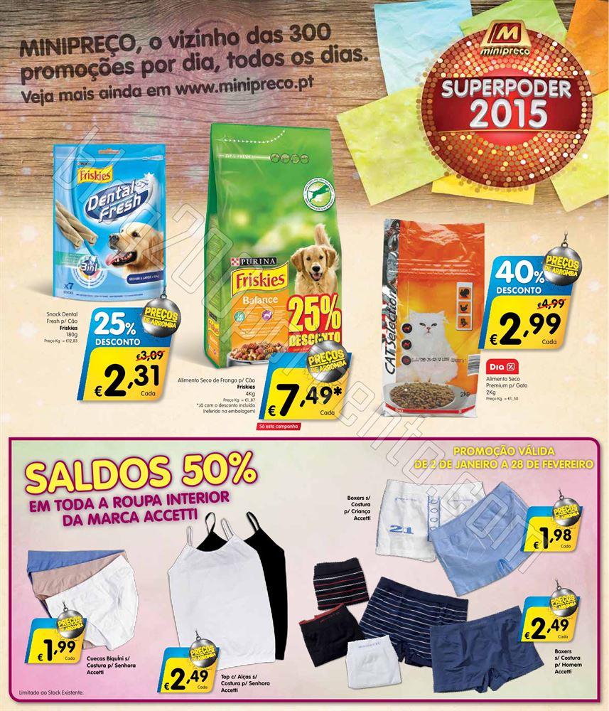 Antevisão Folheto MINIPREÇO de 2 a 7 janeiro o8.