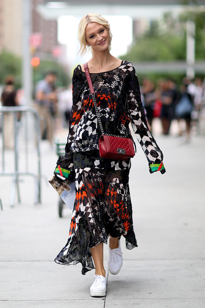 How-Wear-Sneakers-Skirts-Dresses