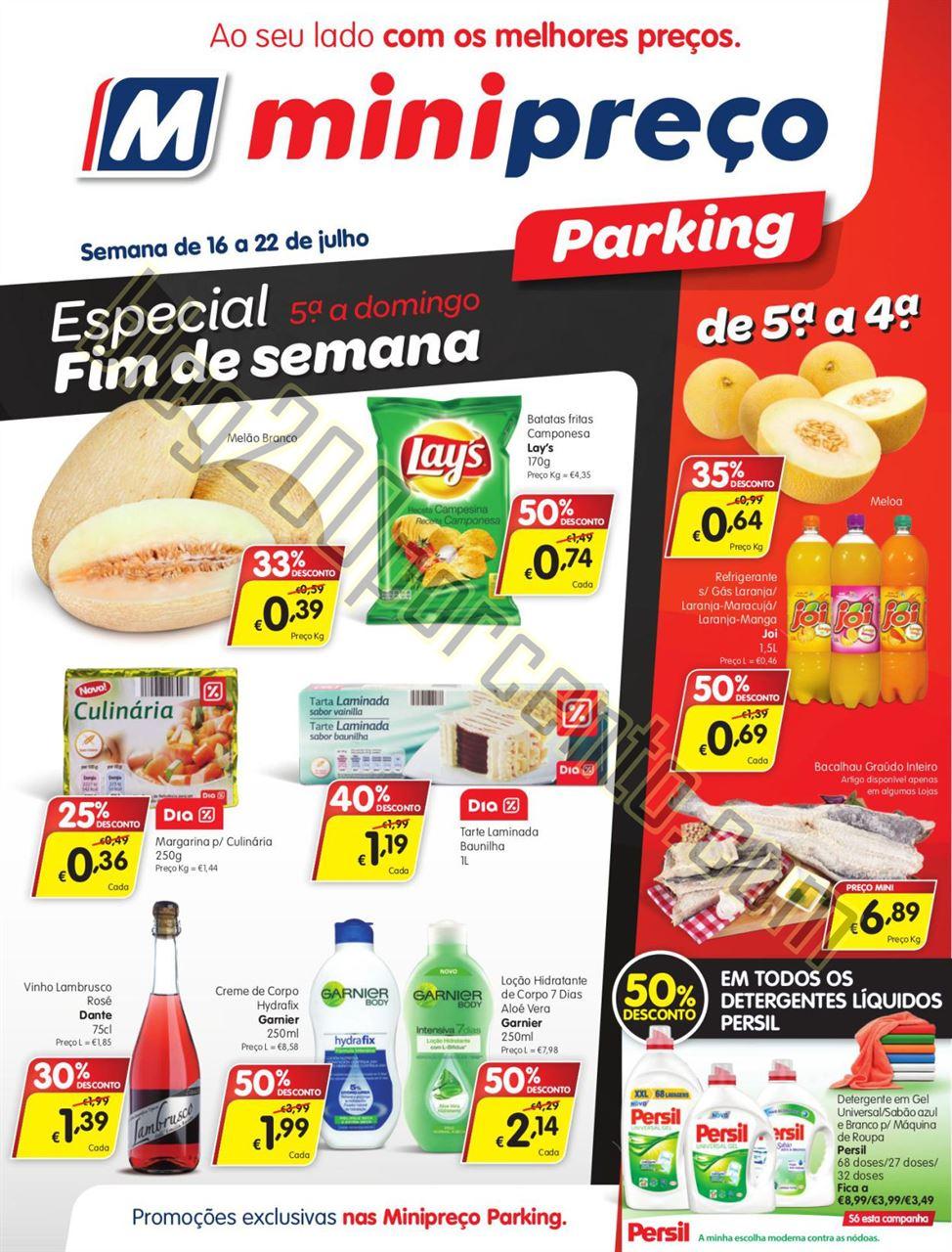 Antevisão Folheto MINIPREÇO Parking de 16 a 22 j