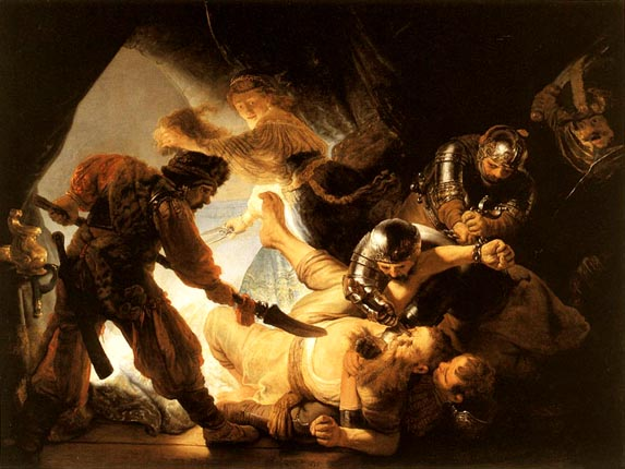 Rembrandt 1606  - 1669The Blinding of Samson, 1636