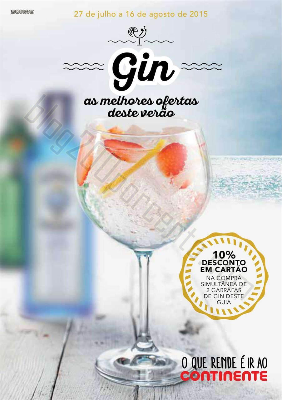 Antevisão Folheto CONTINENTE Gins de 27 julho a 1