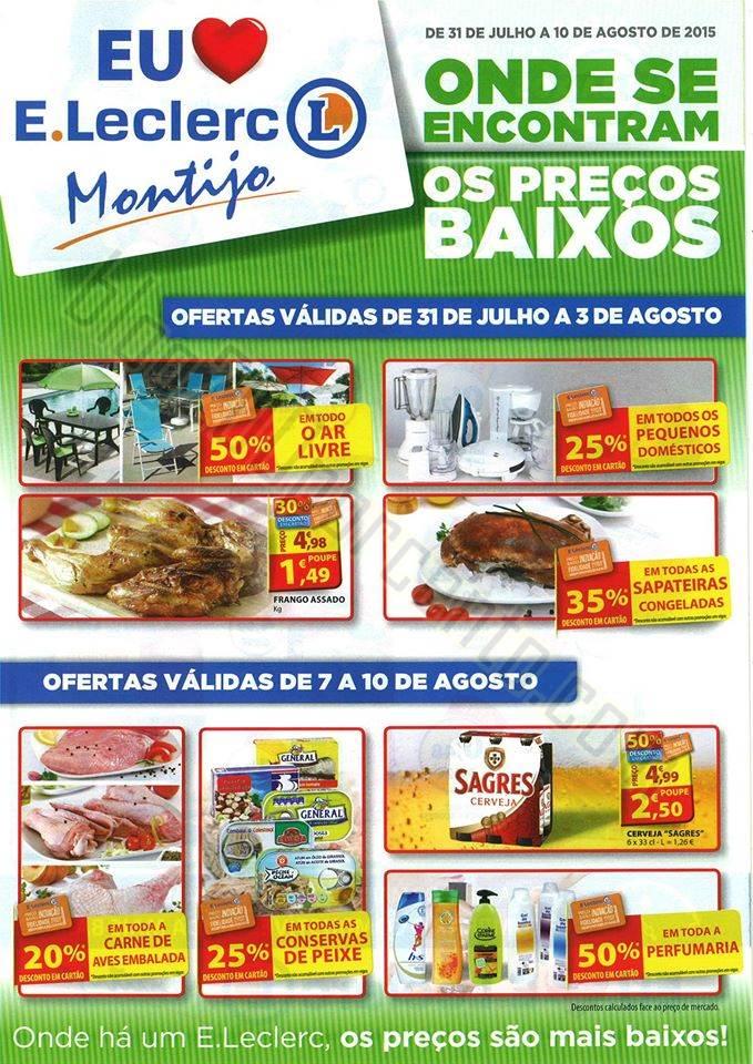 Novo folheto E-LECLERC Montijo promoções de 31 j