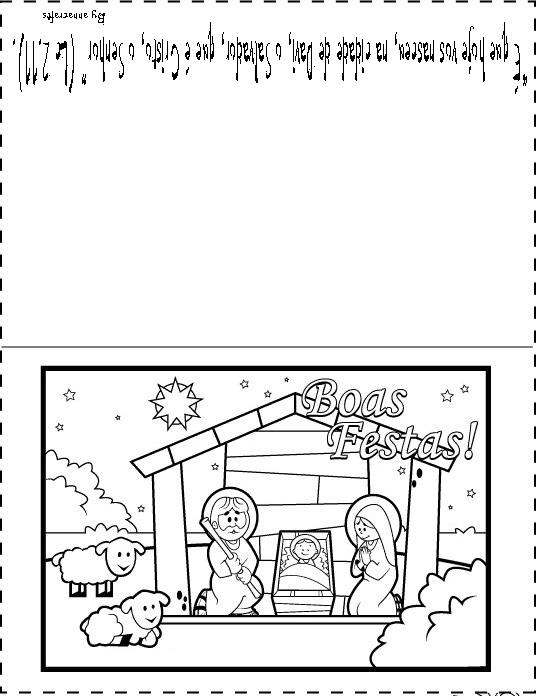 cartões de natal com mensagens para colorir e imprimir brinquedos