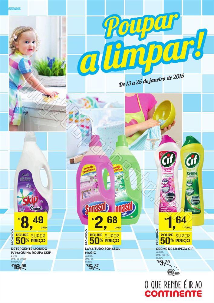 Antevisão Folheto CONTINENTE Limpeza de 13 a 25 j