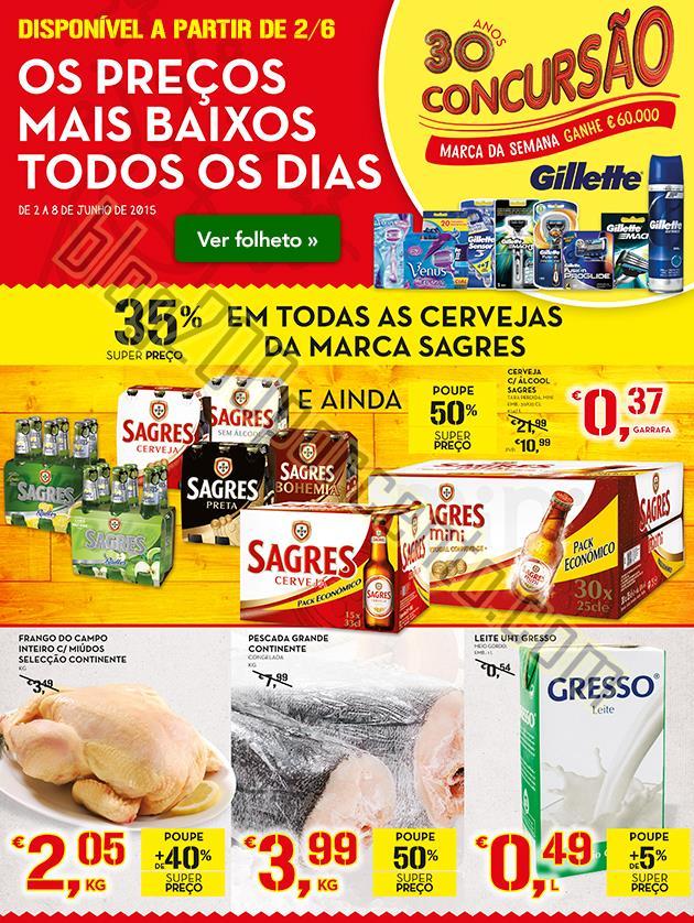 Antevisão Folheto CONTINENTE de 2 a 8 junho Capa.