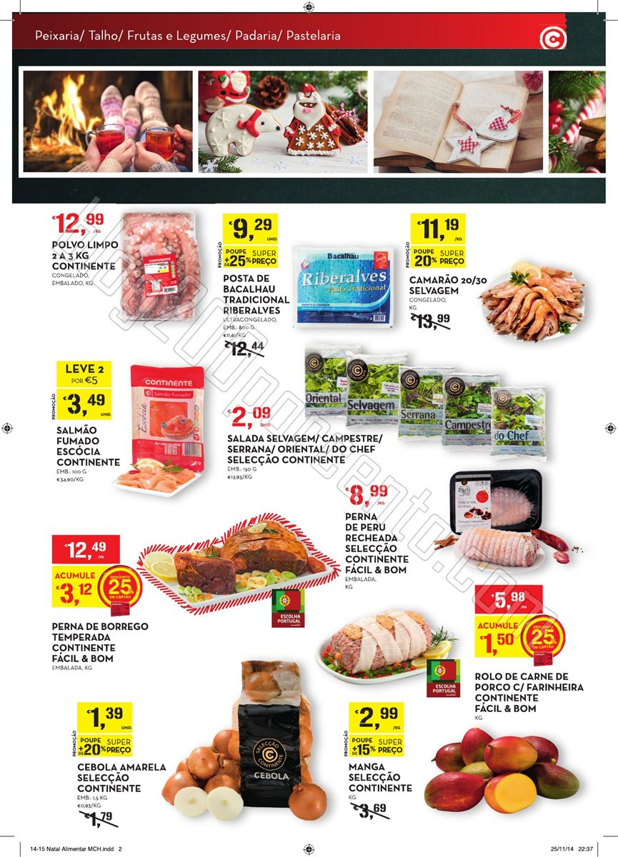 Novo Folheto CONTINENTE Viva o Natal de 9 a 24 dez