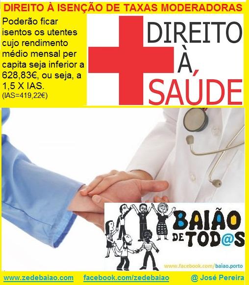 isenção de taxas moderadoras centro de saúde e hospital requerimento e impressos