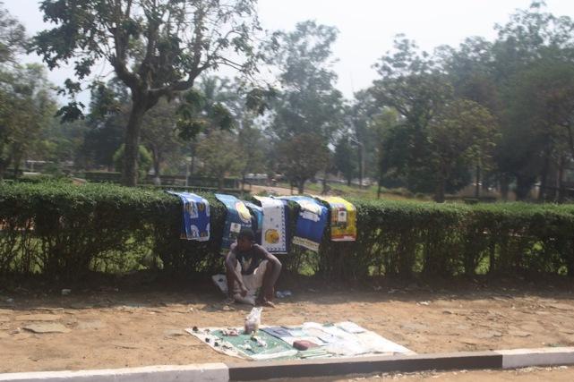 No jardim da Igreja de Nossa Senhora da Assunção. Waku Kungo. Kwansa Sul. Foto: Mayra Fernandes