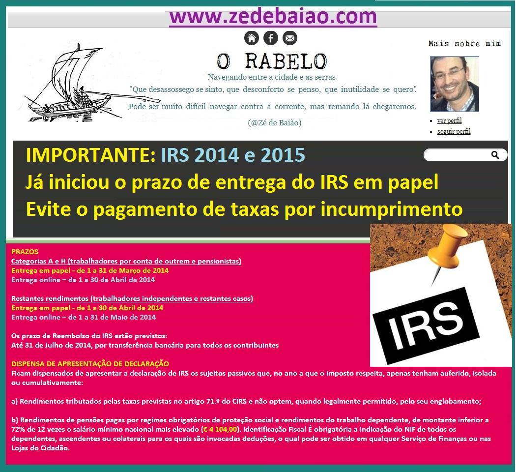 IRS 2014 e 2015 prazos de entrega em papel.jpg
