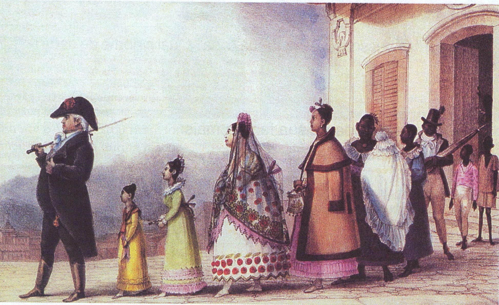 Debret, oficial régio passeando publicamente (Rio de Janeiro, 1816).jpg
