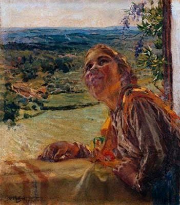 José Malhoa - Conversa com o vizinho, 1932.jpg