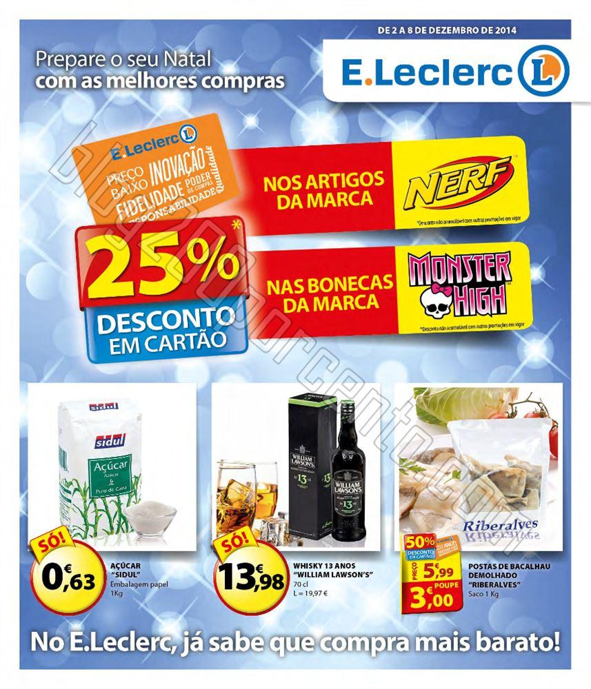 Antevisão Folheto E-LECLERC de 2 a 8 dezembro p1.