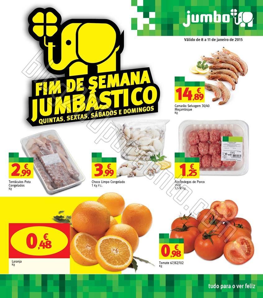 Antevisão Folheto JUMBO Fim de Semana de 8 a 11 j
