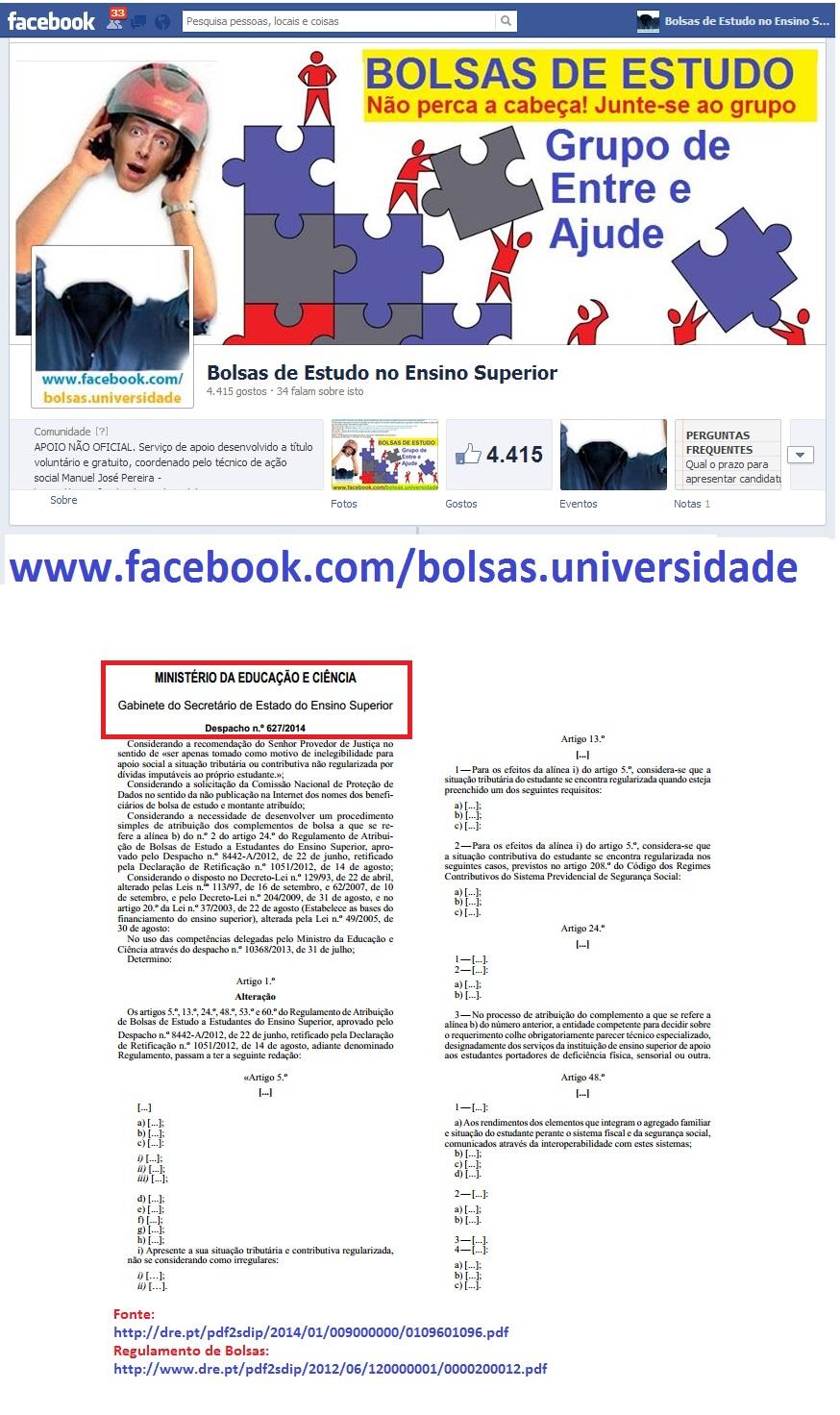 Bolsas de Estudo; Ensino Superior; Cursos; Formação; SAS; Facebook; Universidade; Escola; Instituto; Faculdade