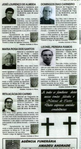 NECROLOGIA NOTICIAS DE CASTRO DAIRE 10 DE OUTUBRO