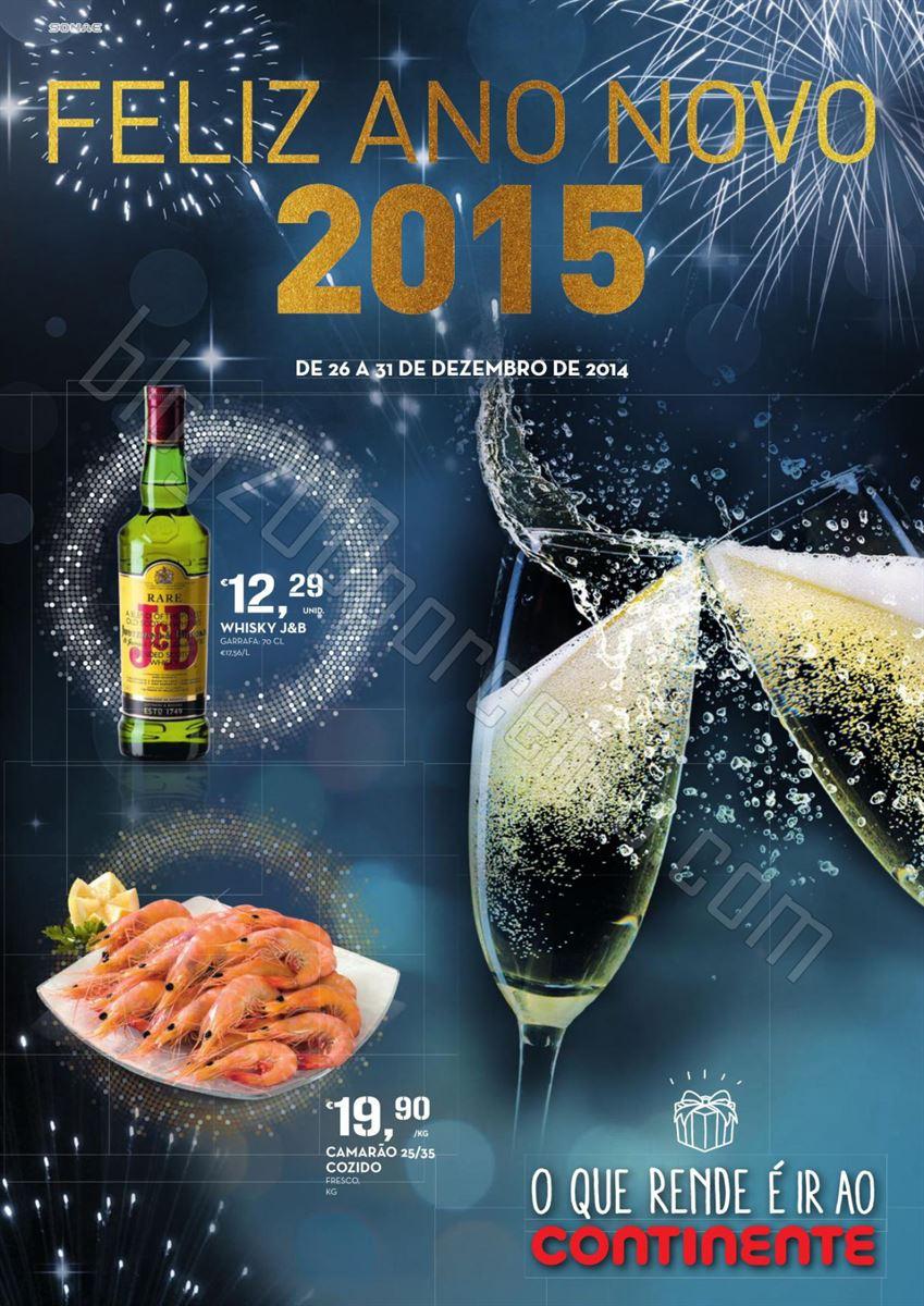 Antevisão Folheto CONTINENTE Feliz Ano Novo de 26