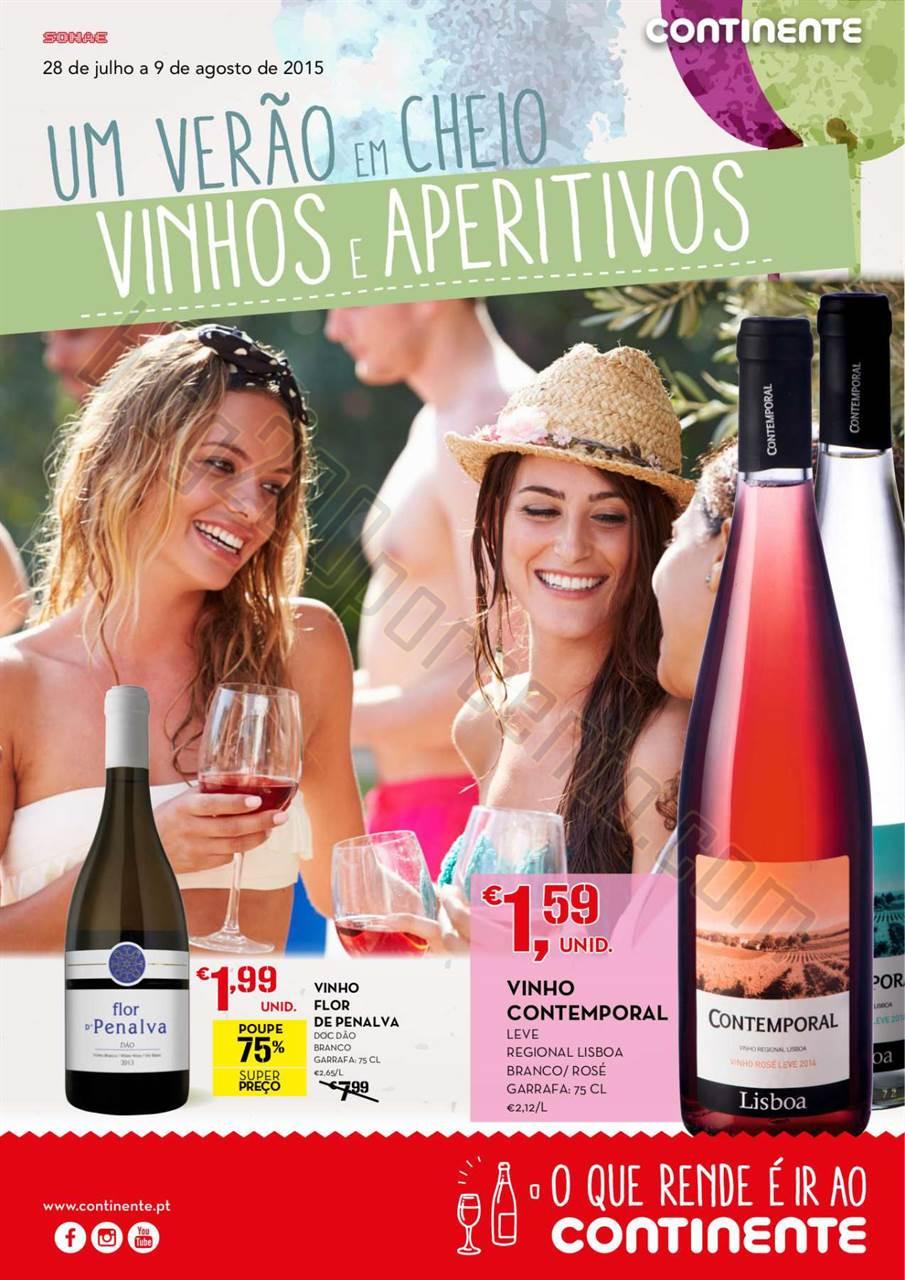 Antevisão Folheto CONTINENTE Vinhos de 28 julho a