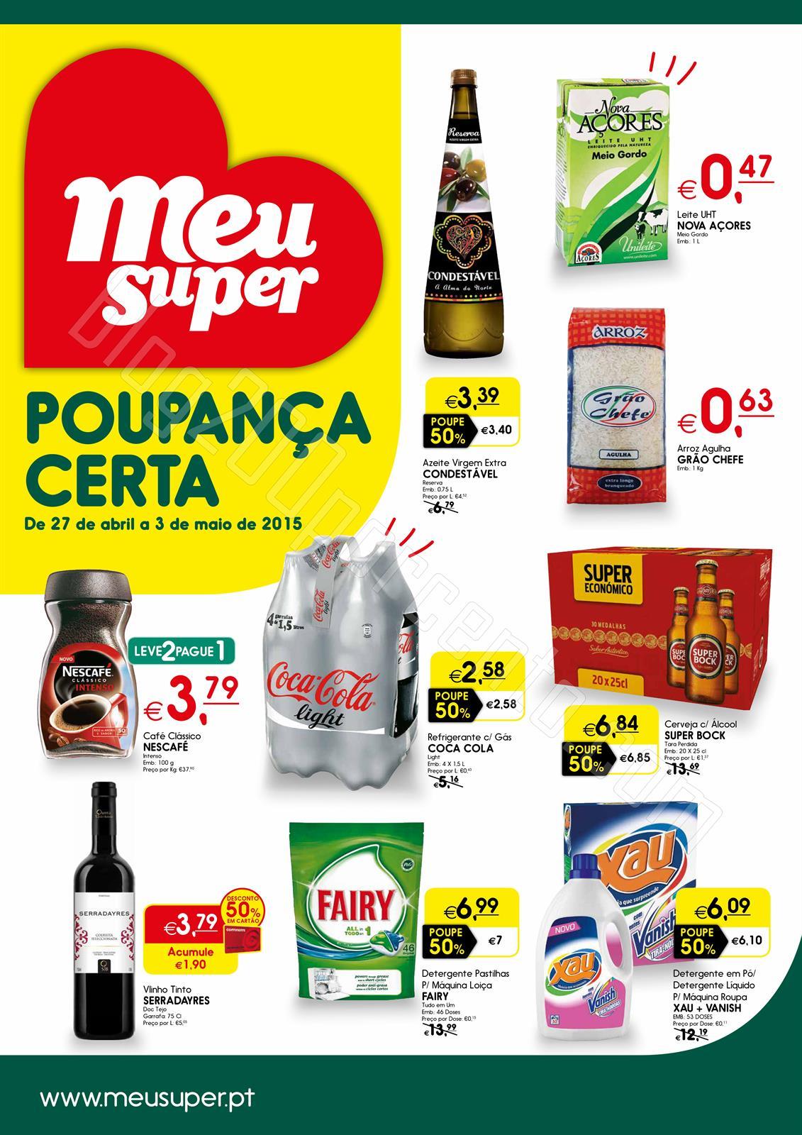 Novo Folheto MEU SUPER Promoções de 27 abril a 3