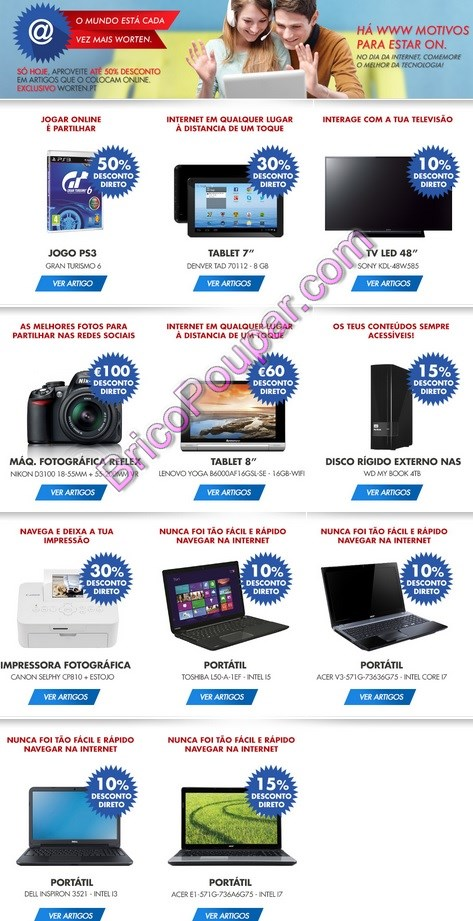 worten promoções e descontos tablets e tecnologia