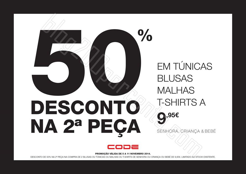 50% de desconto CODE - PINGO DOCE até 11 novembro